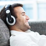 Relaxing man with headphones