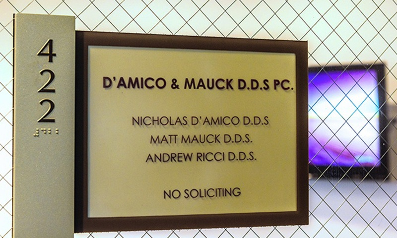 D'Amico and Mauck DDS Office sign